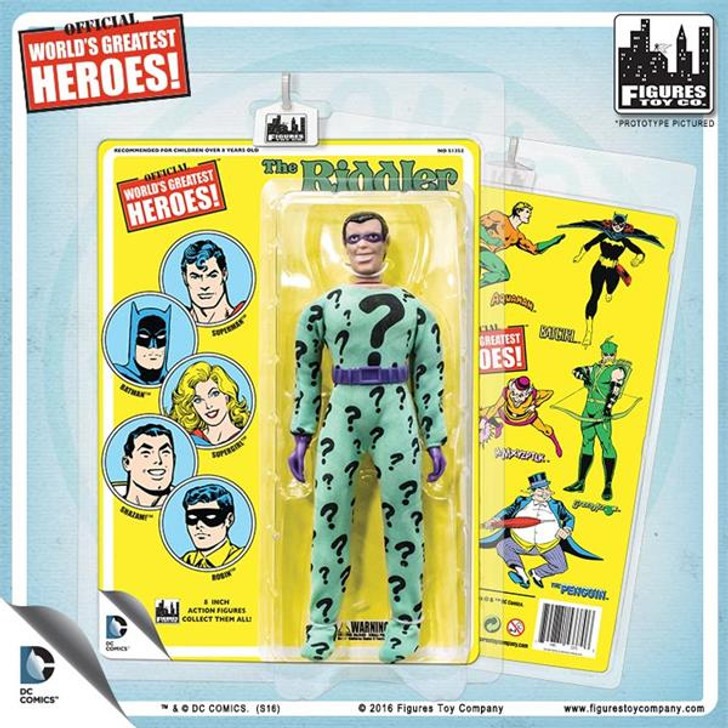 Figures Toy Co. DC Comics 8 Inch Action Figures With Mego-Like Retro Cards: The Riddler