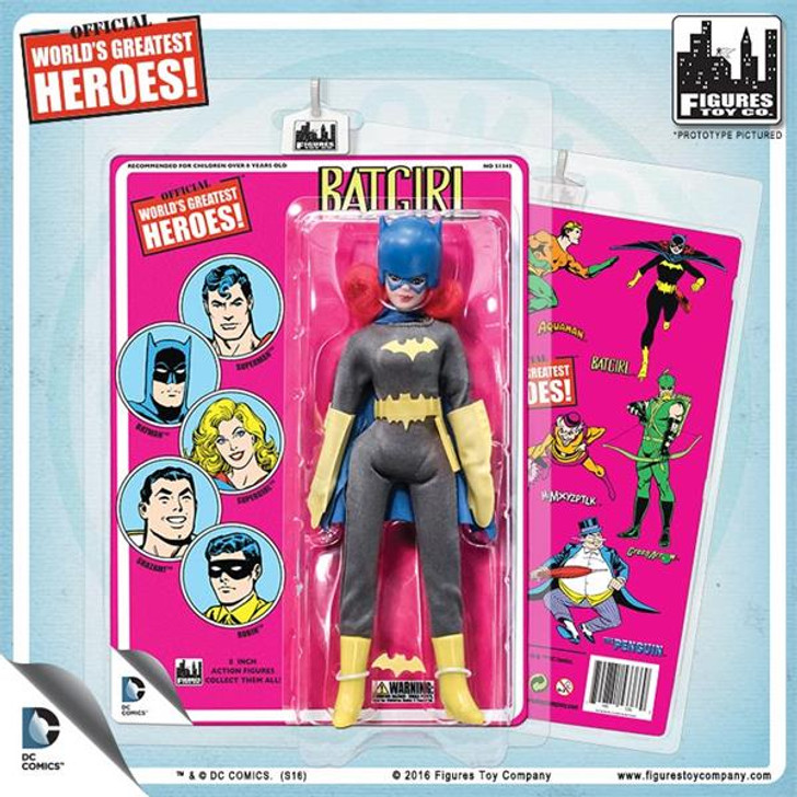 Figures Toy Co. DC Comics 8 Inch Action Figures With Mego-Like Retro Cards: Batgirl