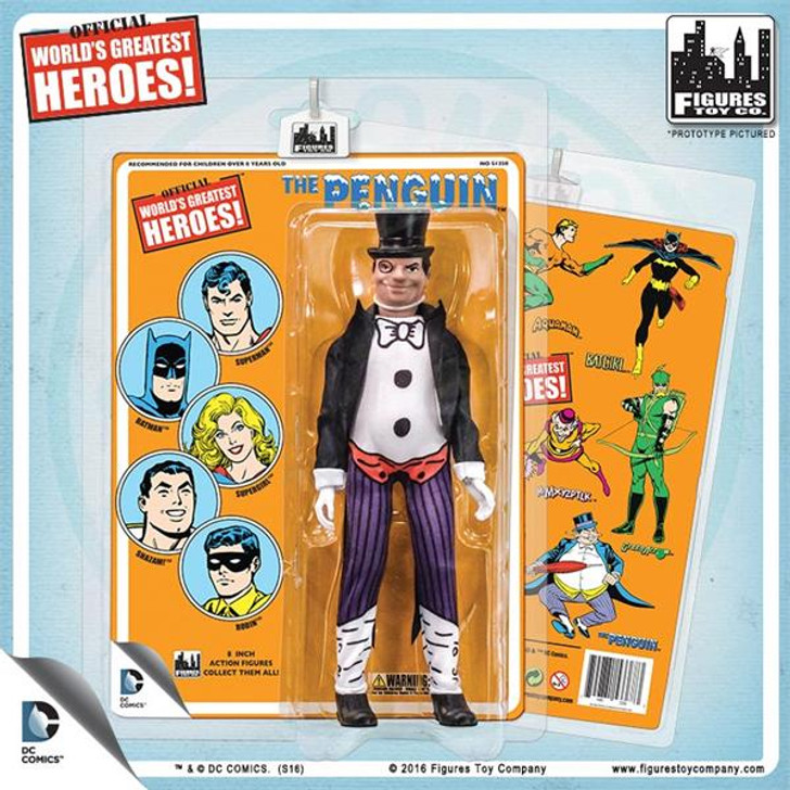 Figures Toy Co. DC Comics 8 Inch Action Figures With Mego-Like Retro Cards: The Penguin