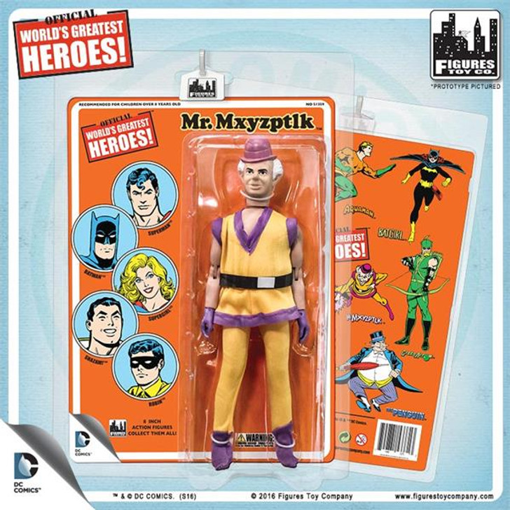 Figures Toy Co. DC Comics 8 Inch Action Figures With Mego-Like Retro Cards: Mr. Mxyzptlk