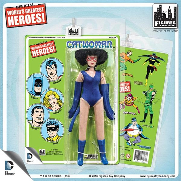 Figures Toy Co. DC Comics 8 Inch Action Figures With Mego-Like Retro Cards: Catwoman