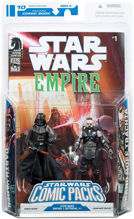 Hasbro Star Wars Comic Packs Darth Vader and Grand Moff Trachta Action Figure