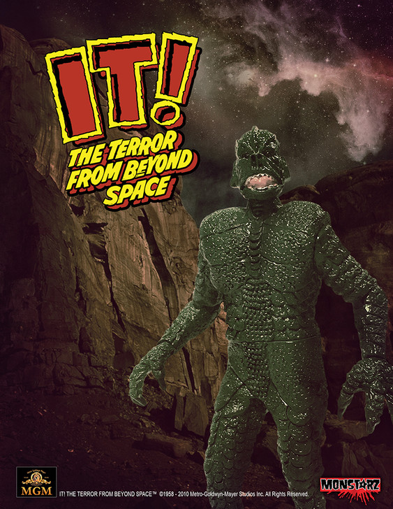"Monstarz IT! The Terror From Beyond Space Alien Green 3.75"" Scale Retro Action Figure"