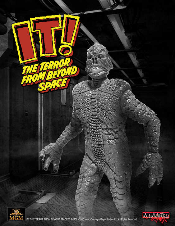 "Monstarz IT! The Terror From Beyond Space B/W 3.75"" Scale Retro Action Figure"