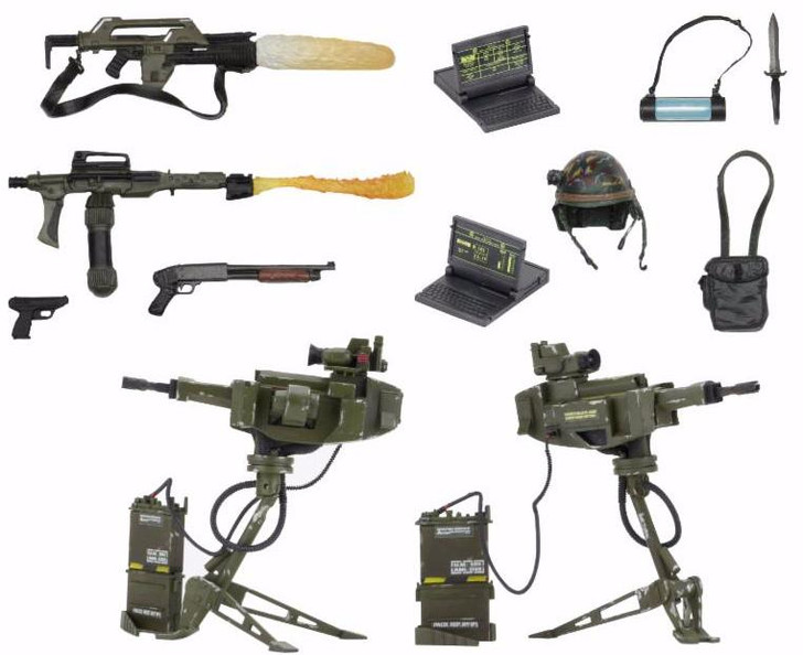 NECA Aliens - Accessory Pack - USCM Arsenal Weapons Pack