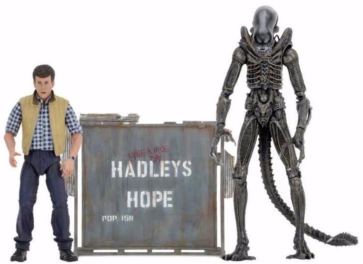 """NECA Aliens - 7"""" Scale Action Figure - Hadley's Hope 2pk"""