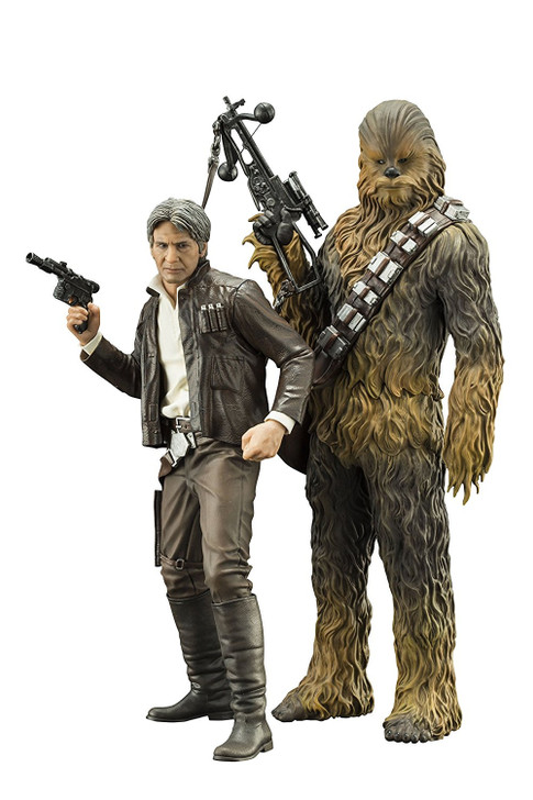 Kotobukiya Star Wars: The Force Awakens: Han Solo & Chewbacca ArtFX 2 Pack