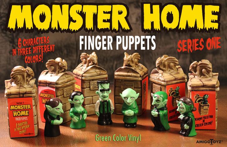 Amigo Toyz Monster Home Finger Puppets Green Set