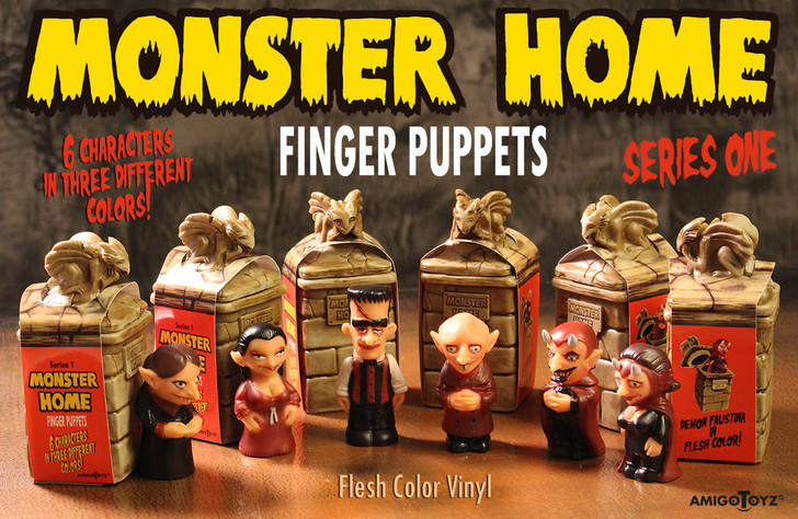 Amigo Toyz Monster Home Finger Puppets Flesh Set