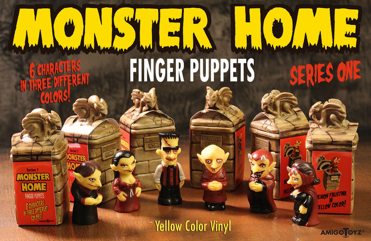 Amigo Toyz Monster Home Finger Puppets Yellow Set