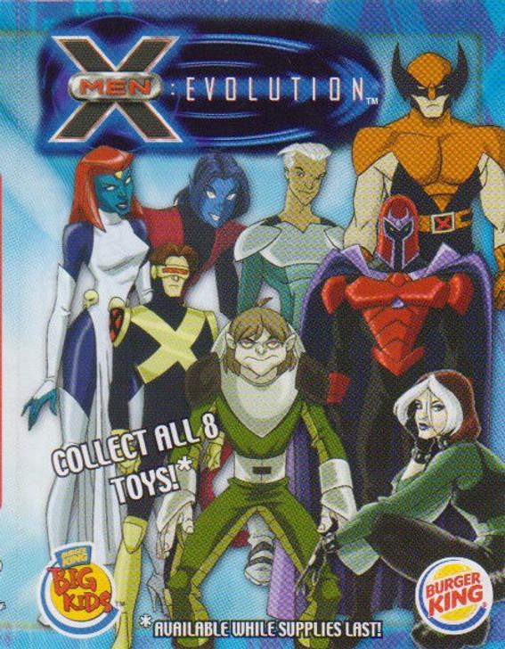 X-Men Evolution Burger King Set of 8 toys