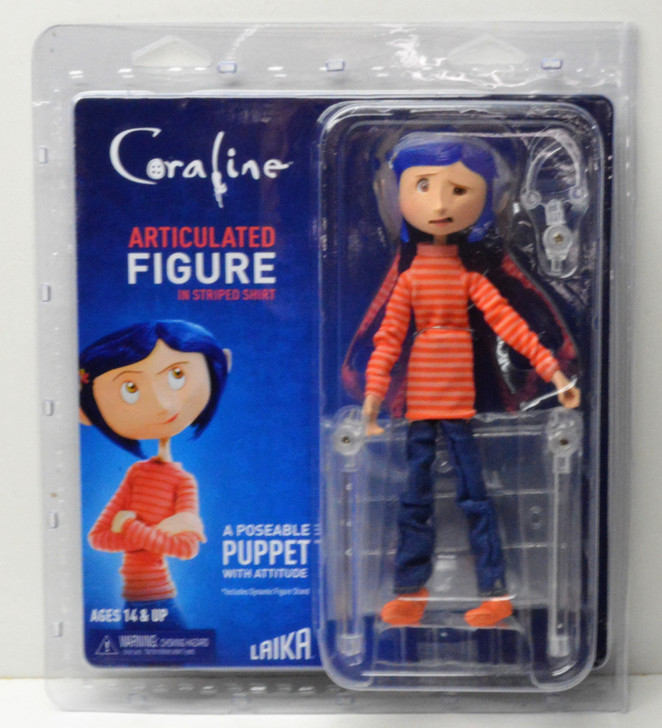 NECA Coraline Articulated Figure  in Striped Shirt and Jeans
