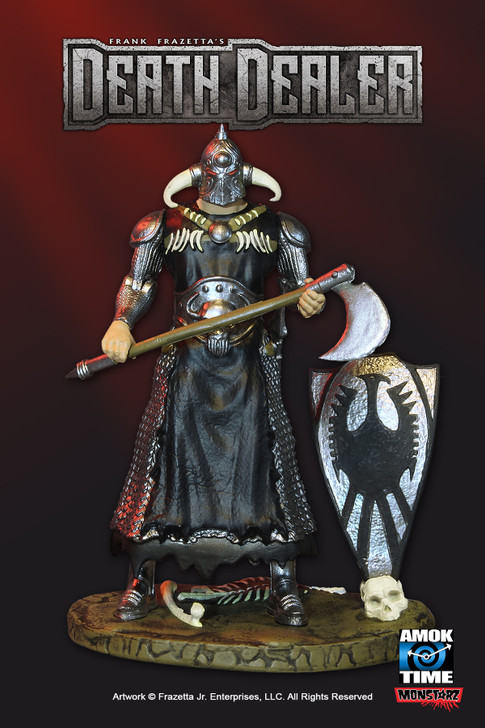 "Monstarz Frank Frazetta's Death Dealer heavy armor deluxe 3.75"" scale retro action figure."