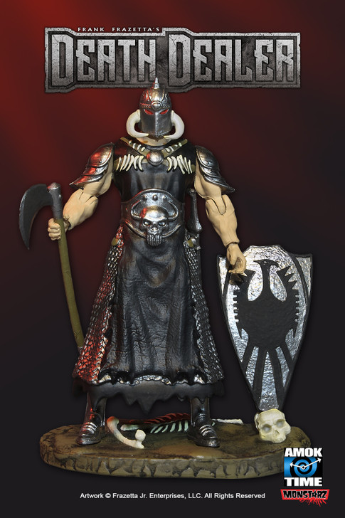 "Monstarz Frank Frazetta's Death Dealer light armor deluxe 3.75"" scale retro action figure"