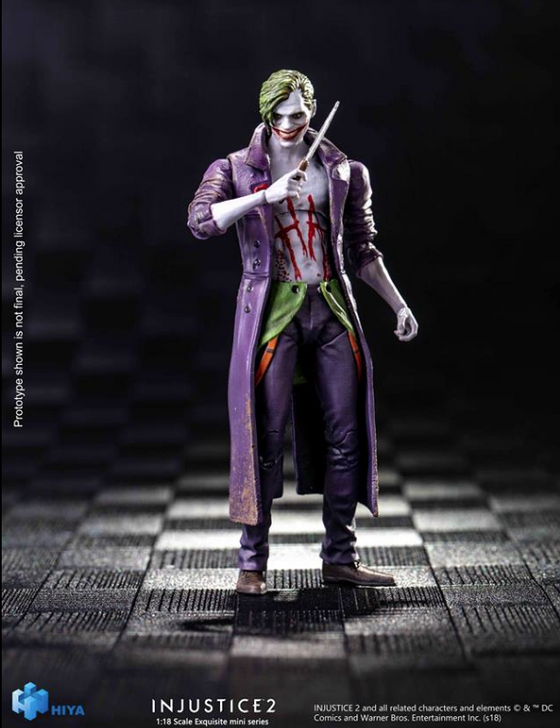 Hiya DC Injustice 2 The Joker 1/18th scale action figure