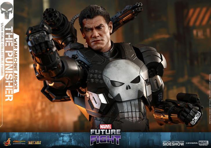 Hot Toys The Punisher War Machine Armor Video Game Masterpiece Series - MARVEL Future Fight - Sixth Scale Figure