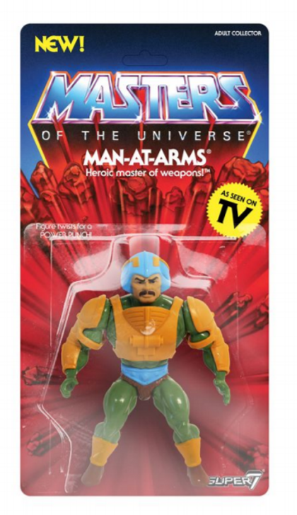 Super7 Masters of the Universe Vintage Man-At-Arms Action Figure