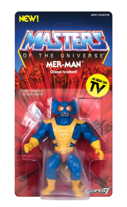 Super7 Masters of the Universe Vintage Mer-Man Action Figure