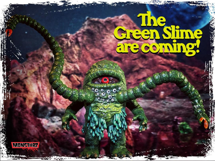 Monstarz The Green Slime retro action figure
