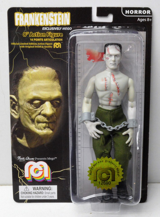 MegoFrankenstein Bare chested with stitches 8inch Action Figure