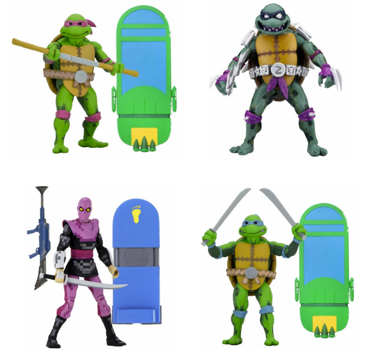 "NECA TMNT: Turtles in Time - 7"" Scale Action Figures - Series 1 Asst Set of 4"