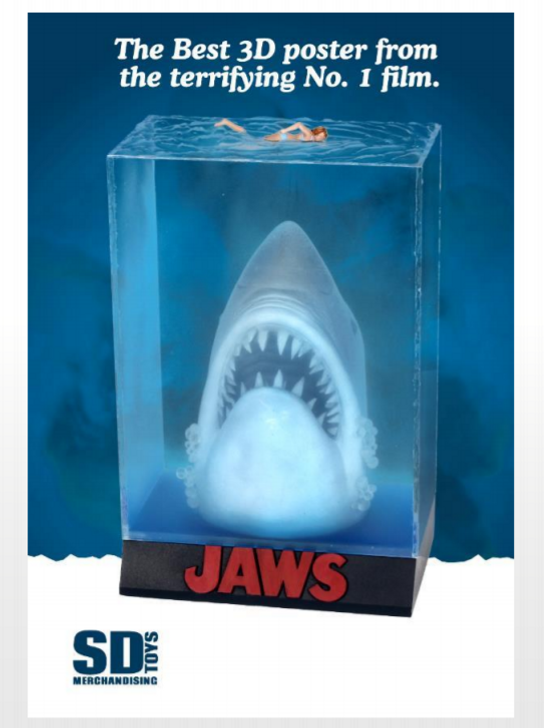 SD Toys JAWS 3-D Poster Diorama