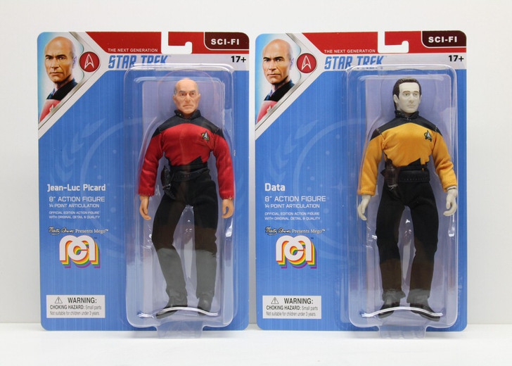 Mego Action Figure 8inch Star Trek TNG Set of 2