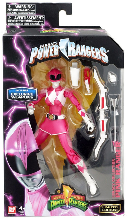 """Hasbro Mighty Morphin Power Rangers Pink Ranger 6"""" Action Figure With Exclusive Weapons"""