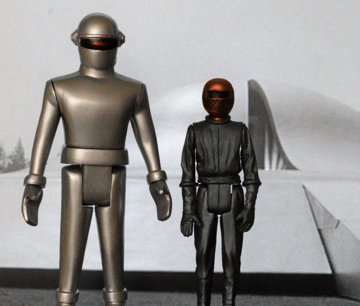 Monstarz The Day the Earth Stood Still Gort and Klaatu Retro Action Figure 2 pack No package