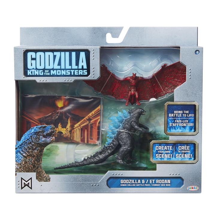 Jakks Godzilla vs Rodan King of the Monsters Battle Pack