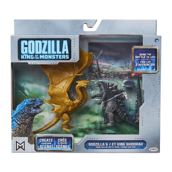 Jakks Godzilla vs King Ghidorah King of the Monsters Battle Pack