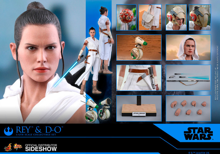 Hot Toys Star Wars Rey and D-O The Rise of Skywalker - Movie Masterpiece Series Sixth Scale Figure