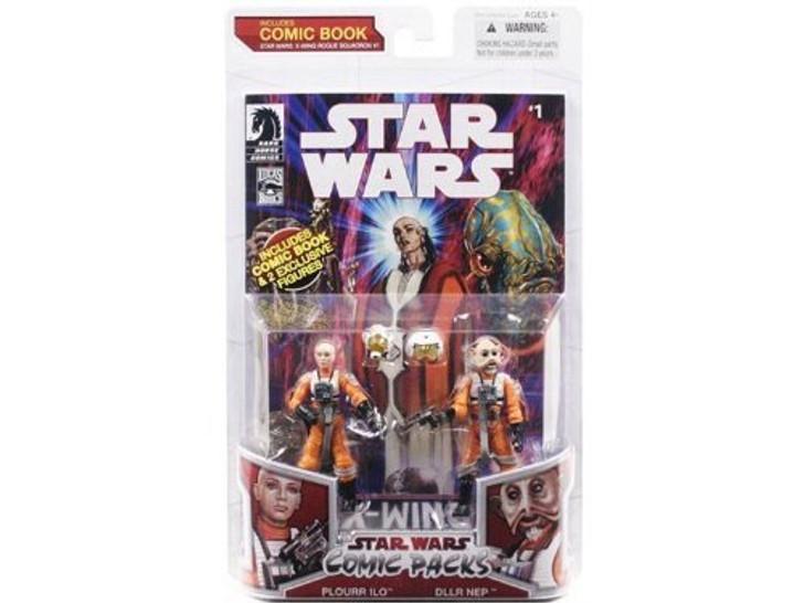 Hasbro Star Wars Comic Packs Plourr Ilo and Dllr Nep Action Figure