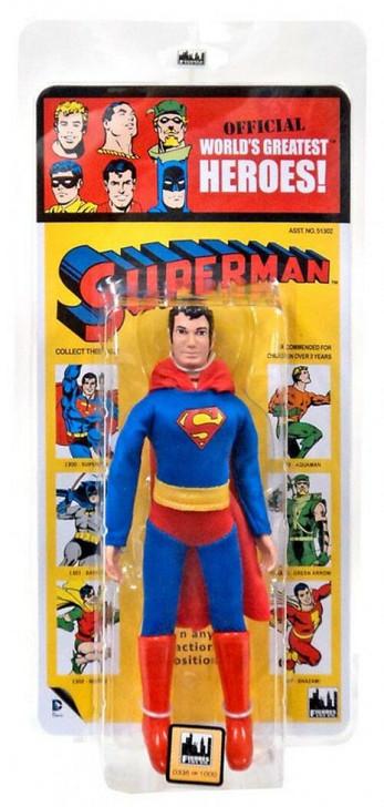 Figures Toy Co. DC Comics Superman Kresge Card 8in action figure