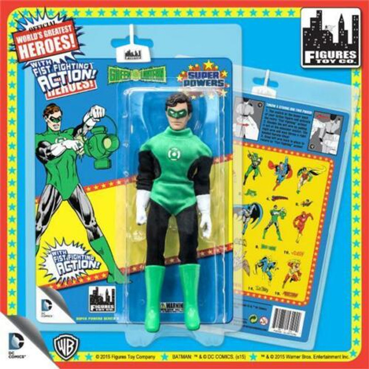 Figures Toy Co. DC Comics Green Lantern Fist Fighting 8in action figure