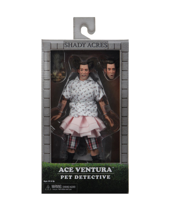 """NECA Ace Ventura """"Shady Acres"""" 8"""" Clothed Action Figure"""