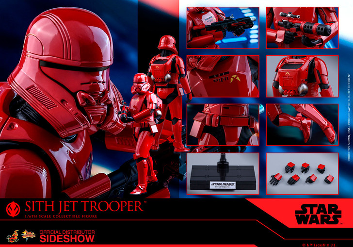 Hot Toys Star Wars Sith Jet Trooper The Rise of Skywalker - Movie Masterpiece Series Sixth Scale Figure