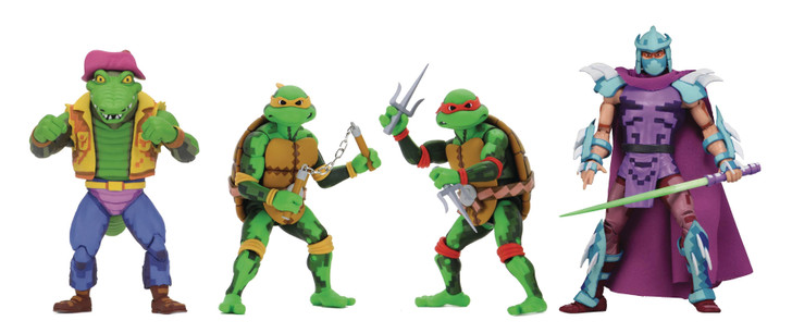 "NECA TMNT: Turtles in Time - 7"" Scale Action Figures - Series 2 Asst Set of 4"
