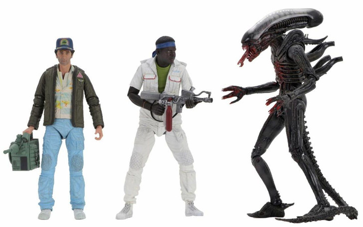 """NECA Alien - 7"""" Scale Action Figure - Ultimate 40th Anniversary Series 2 Set of 3"""