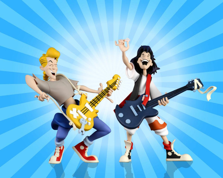 """NECA Bill and Ted's Excellent Adventure – 6"""" Scale Action Figure – Toony Classics Bill and Ted 2-Pack"""