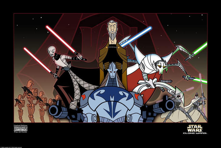 Acme Archives Star Wars Clone Wars Shadow of the Sith framed Giclee