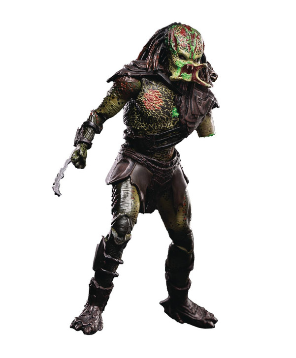 HIYA Predators Battle Damaged Berserker 1/18 scale action figure
