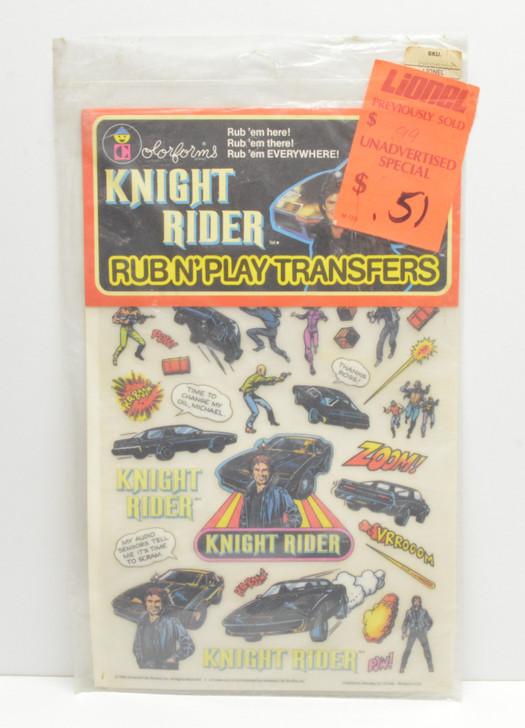 Colorforms (1982) Knight Rider Rub N' Play Transfers