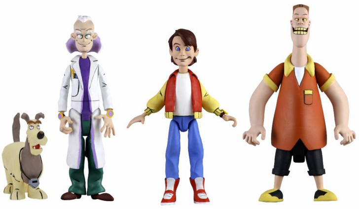 "NECA Toony Classics  Back to the Future – 6"" Scale Action Figure Set of 3"