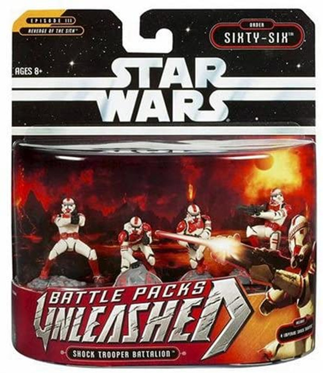 Hasbro Star Wars Unleashed Battle Packs Shock Trooper Battallion