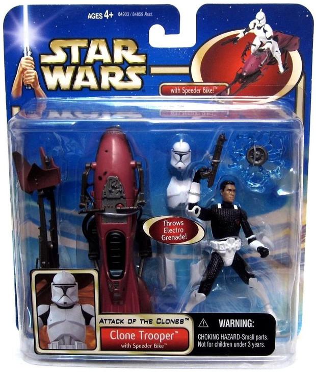 Hasbro Star Wars AOTC Clone Trooper with Speeder Bike