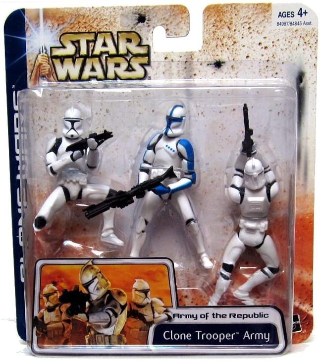 Hasbro Star Wars Clone Wars Clone Trooper Army (Blue)