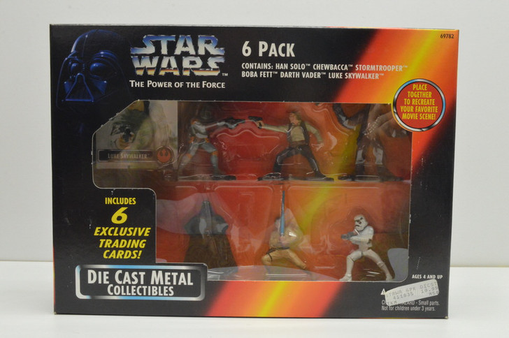 Kenner Star Wars Die Cast Metal Collectibles 6 pack