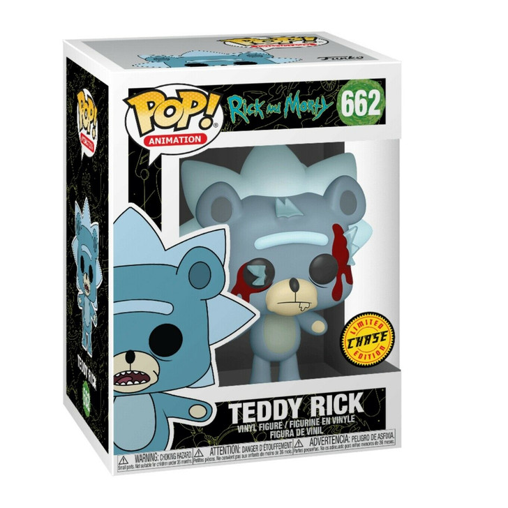 Funko Pop! Animation Rick and Morty Teddy Rick #662 CHASE