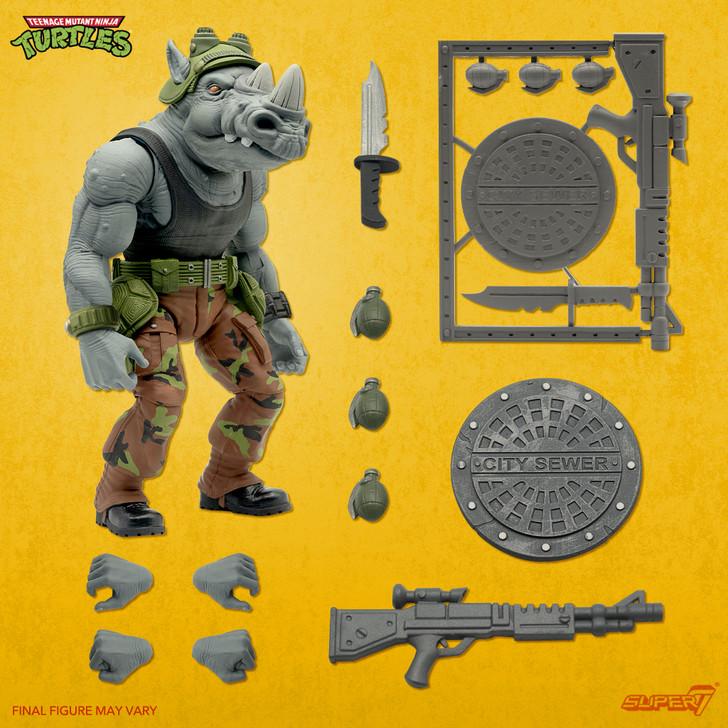 Super7 TMNT Ultimates Rocksteady Action Figure